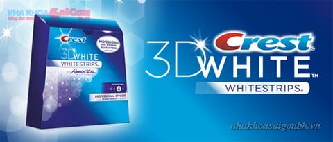 Tẩy trắng răng với miếng dán Crest 3D White