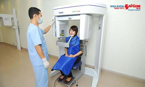 Máy Cone beam CT Cho hình ảnh trung thực, giúp bác sĩ có thể quan sát toàn bộ cấu trúc xương hàm theo từng lớp, xác định chính xác vị trí dây thần kinh hàm dưới