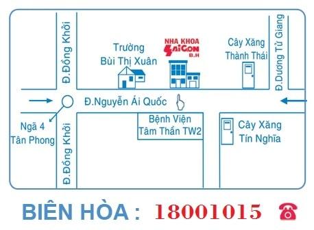 bản đồ chi nhánh Biên Hòa