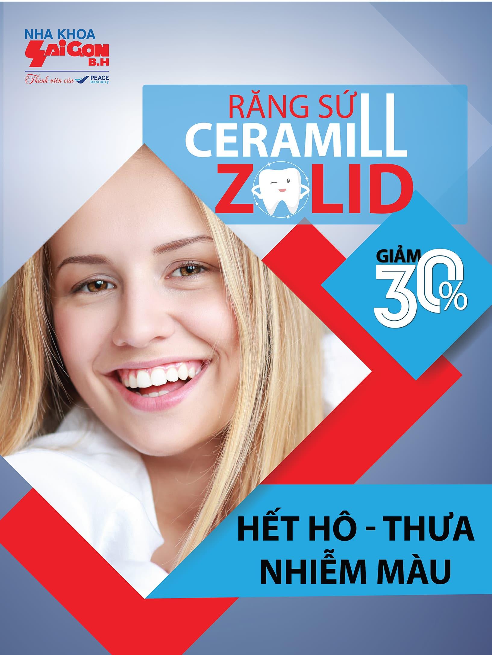 Ưu đãi lớn giảm 20% bọc răng sứ thẩm mỹ Ceramill zolid - Nha khoa Biên Hòa Đồng Nai
