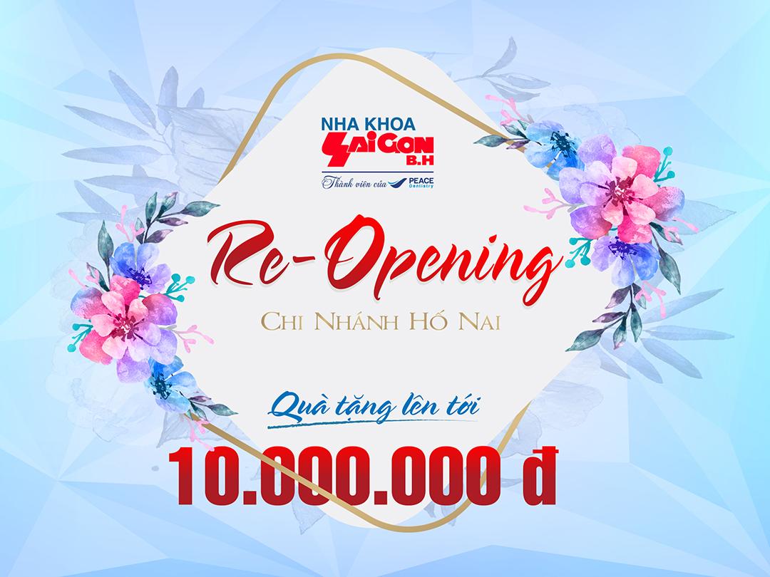 Re-Opening Nha Khoa Sài Gòn B.H CN Hố Nai