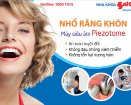 Nhổ răng khôn an toàn không đau bằng sóng siêu âm